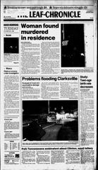 The Leaf-Chronicle front page from Oct. 29, 1996, the day after Crista Bramlitt's body was found.