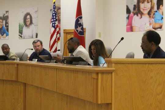 Clarksville-Montgomery County School System District 3 school board member Danny Kittrell Jr. addresses the school board at his last meeting April 30, 2019.