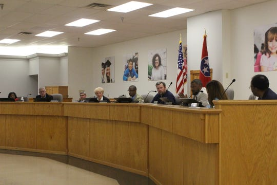 Clarksville-Montgomery County School System District 3 school board member Danny Kittrell Jr. addresses the board during his last meeting April 30, 2019.