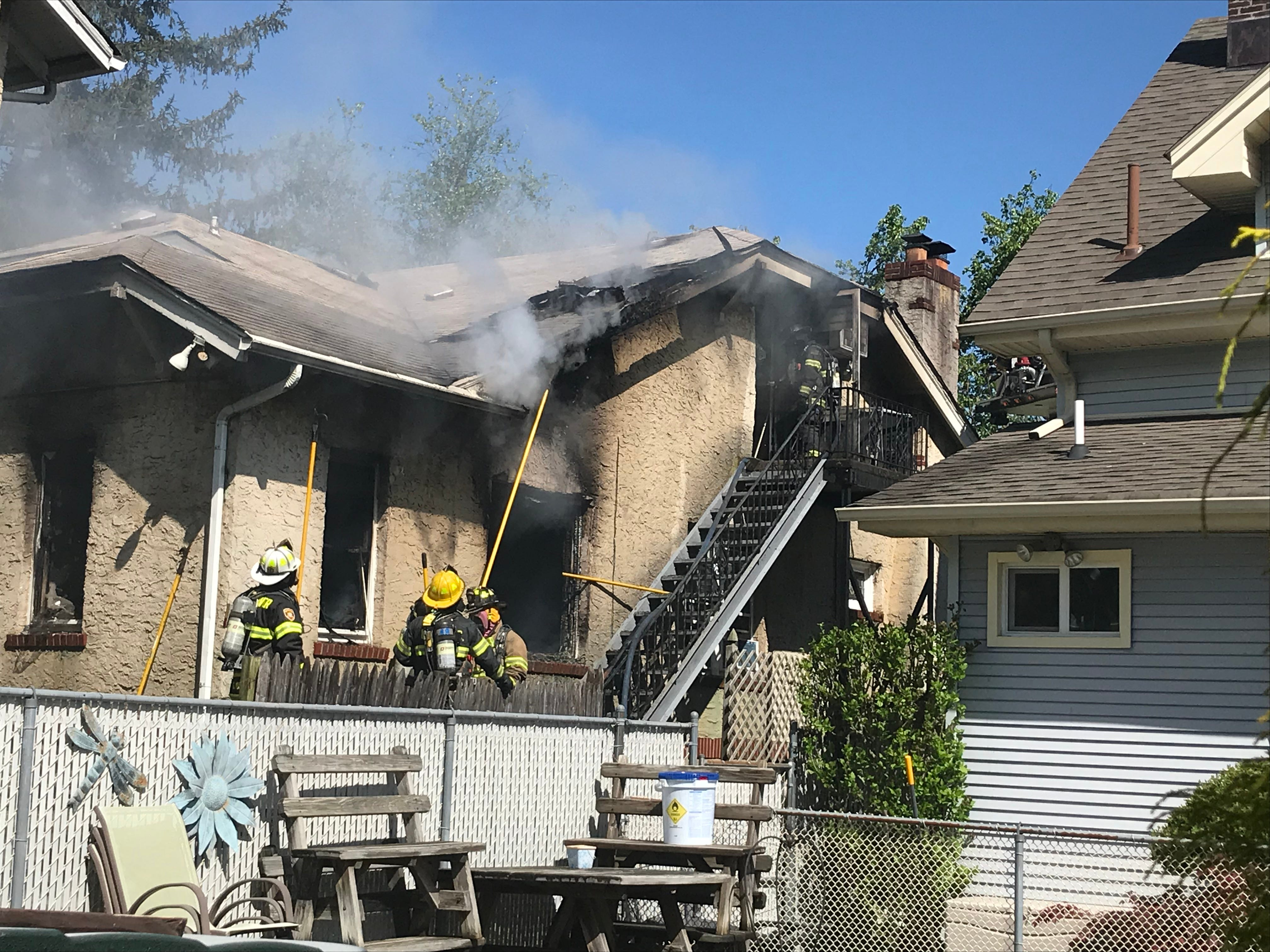A Devoe Street home was damaged by fire Monday morning in South River.