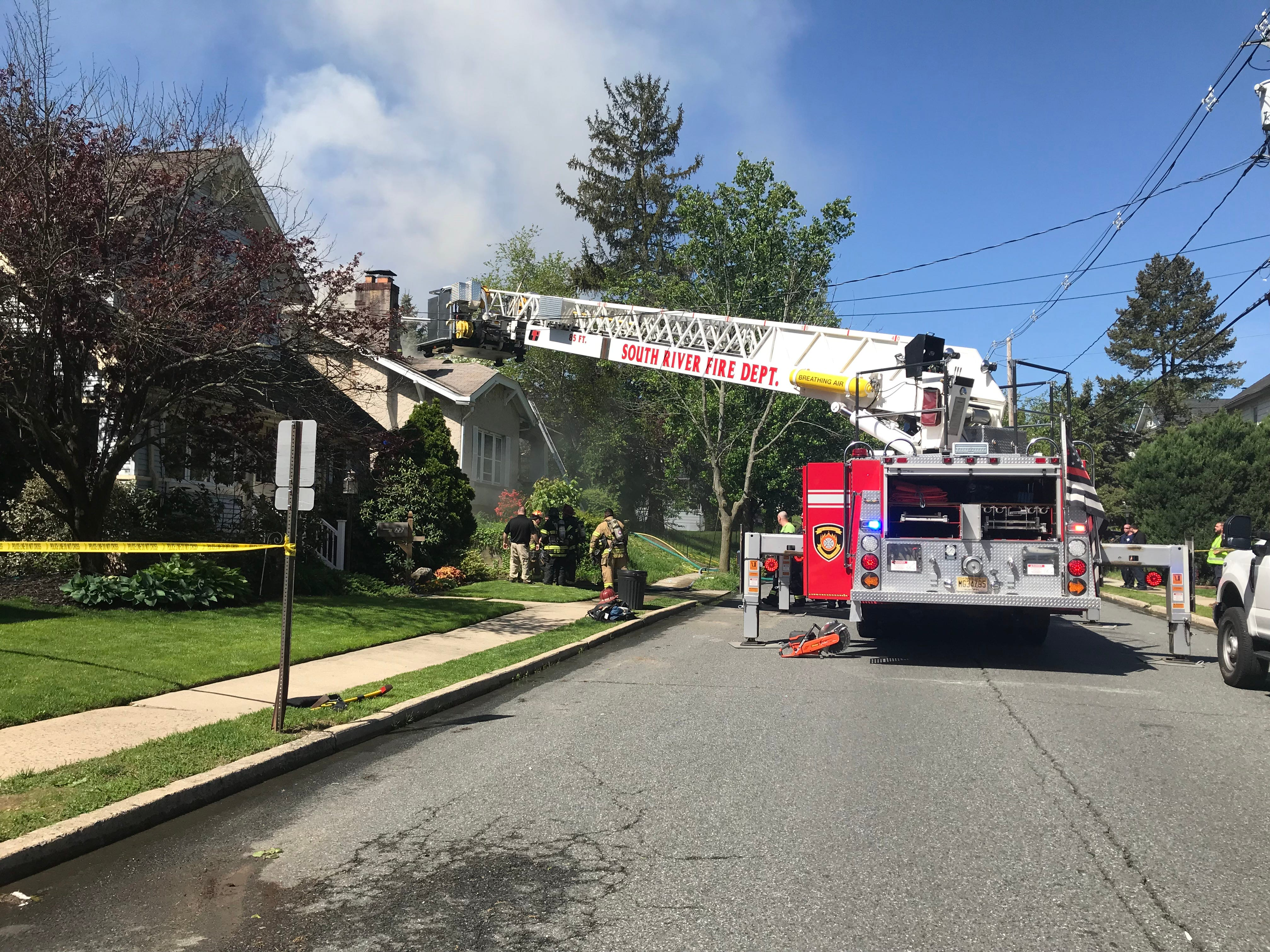 A Devoe Street home was damaged by fire in South River Monday morning.