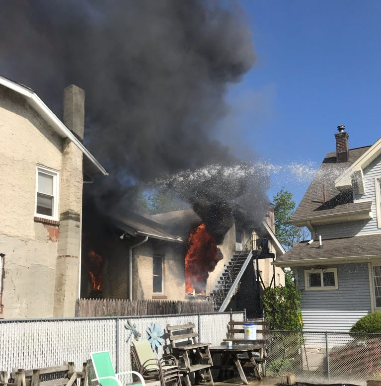 South River fire damages Devoe Street home