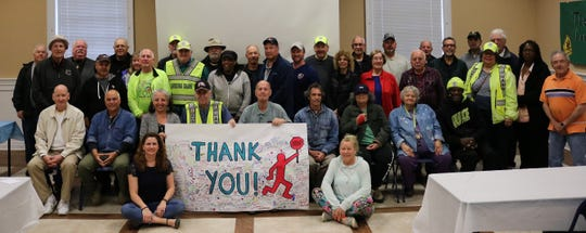 Westfield crossing guards were honored for their service to the school district and the community at a breakfast on Friday, April 26 at Westfield Town Hall.