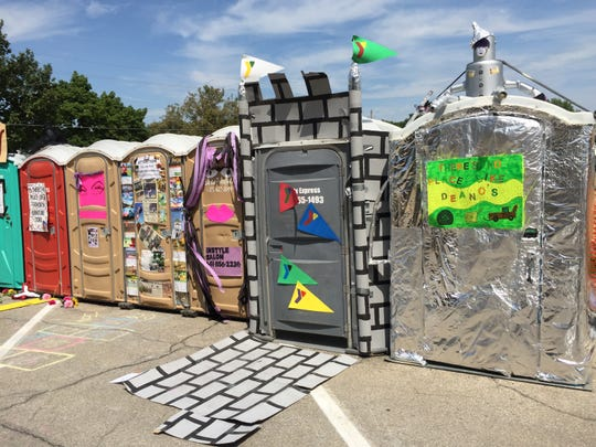 Adopt-a-Pot featured portable toilets from RAGBRAI events of the past.