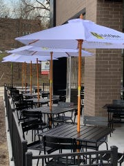 The new patio at Teddy Maroon's is ready for summer diners.
