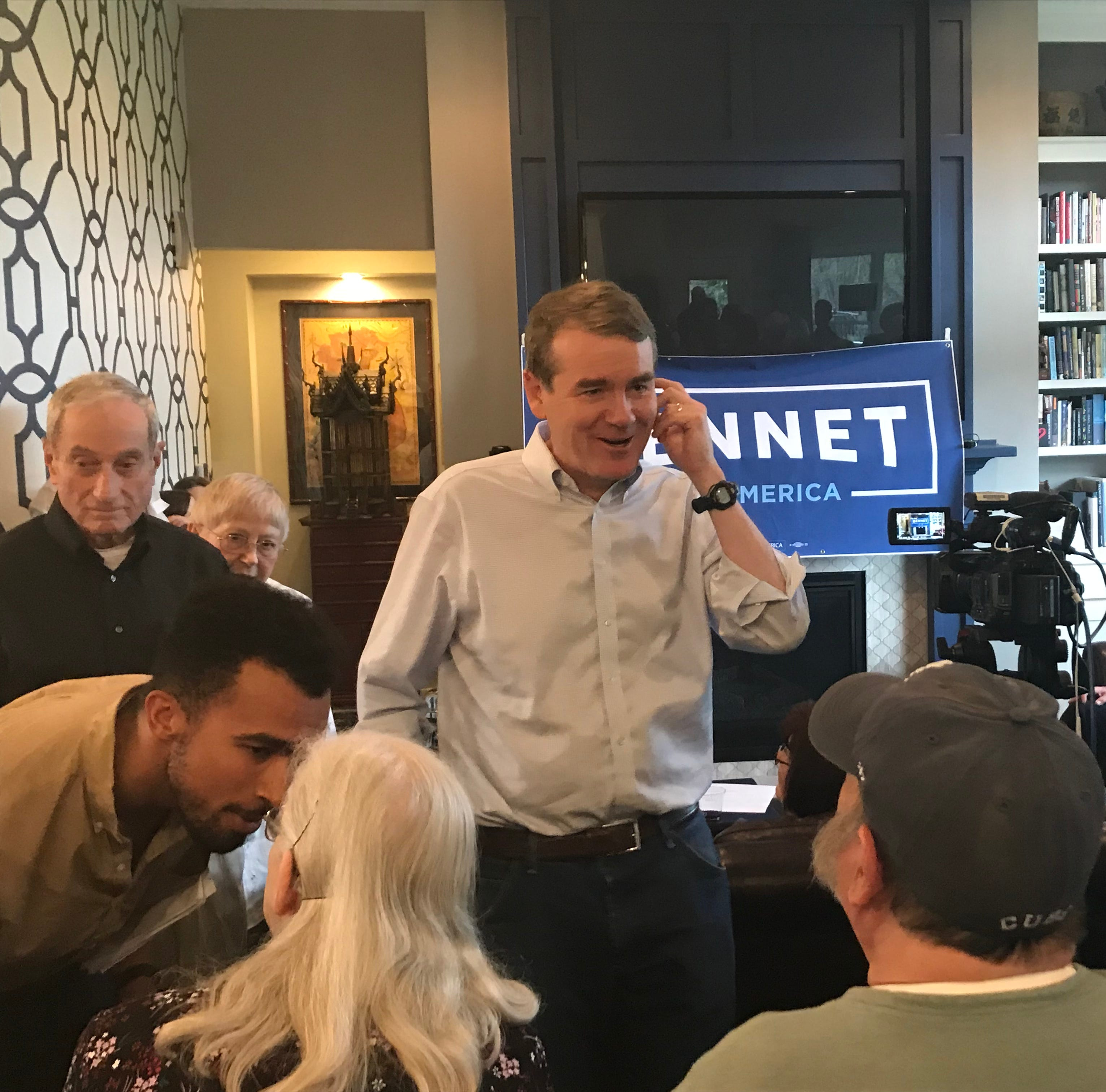 With clean bill of health, Michael Bennet begins his presidential campaign in Iowa