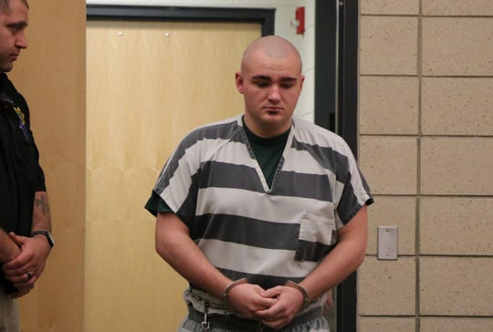 Collin Richards enters a change of venue hearing on Monday, May 6, 2019, at the Polk County Courthouse. Lyn Keren, The Ames Tribune