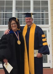 State Rep. Scott Ourth and Graceland University President Pat Draves celebrated the school's 122nd Commencement Ceremony on April 28. Ourth serves on Graceland's Board of Trustees.