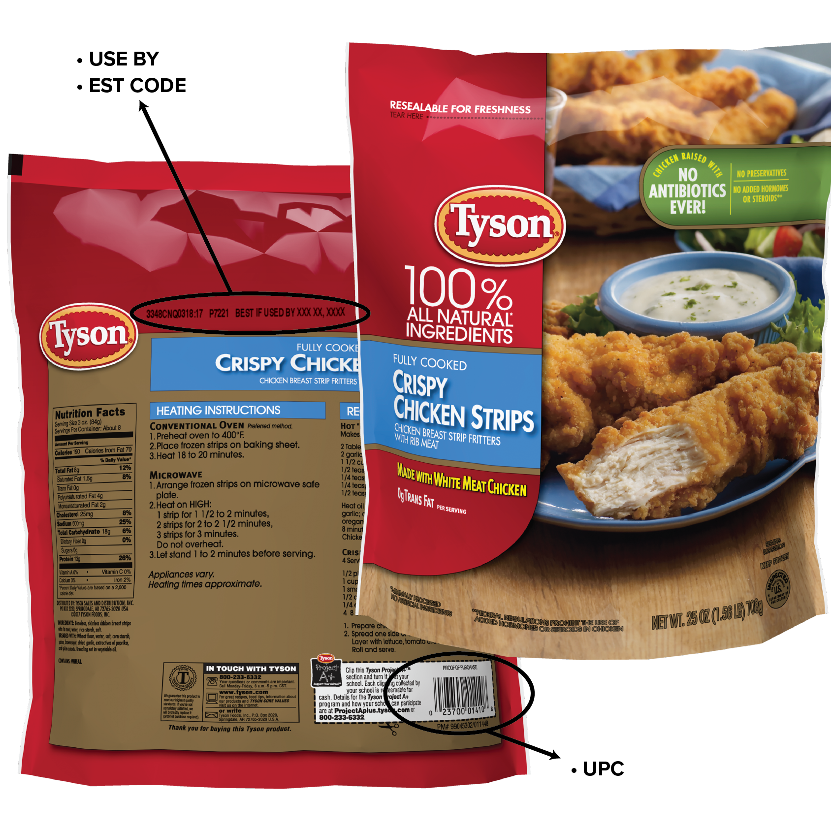 12 million pounds of Tyson Foods frozen chicken strips being recalled