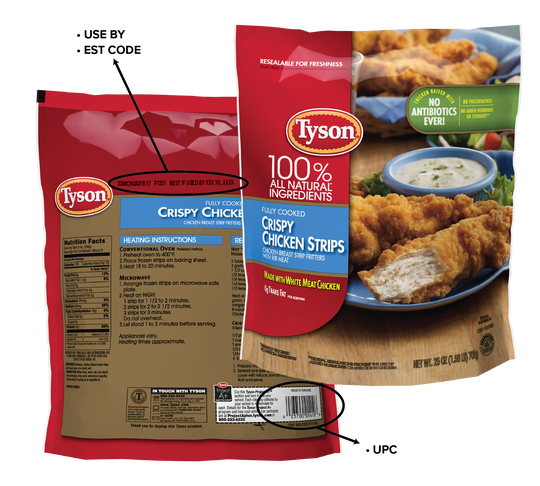 Tyson foods recalling chicken strips