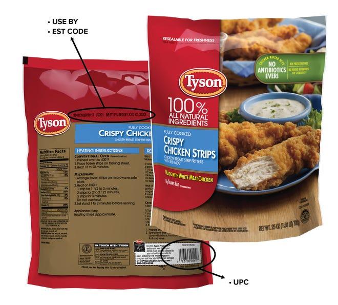Tyson foods recalling chicken strips