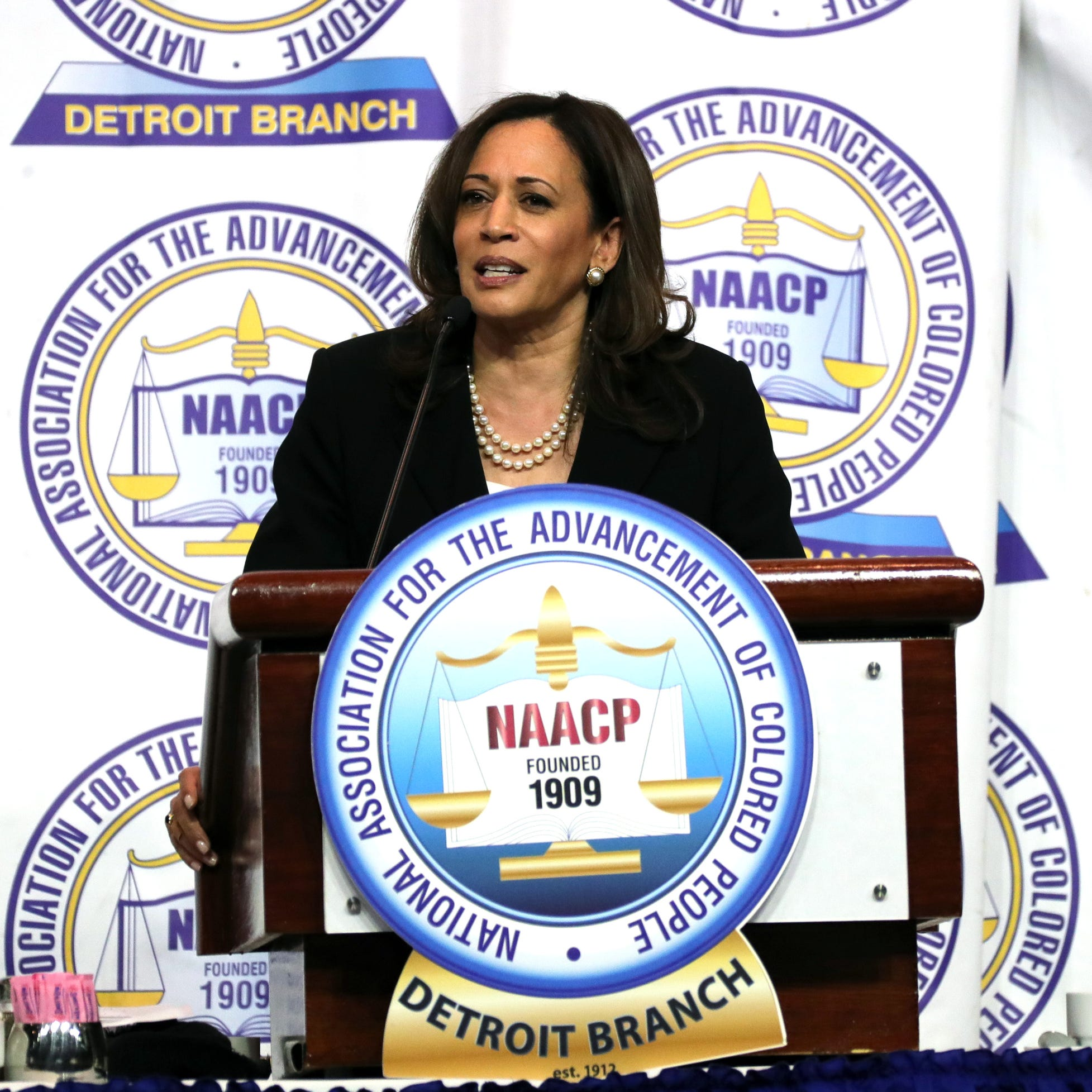 Kamala Harris takes on President Trump in Detroit speech to NAACP
