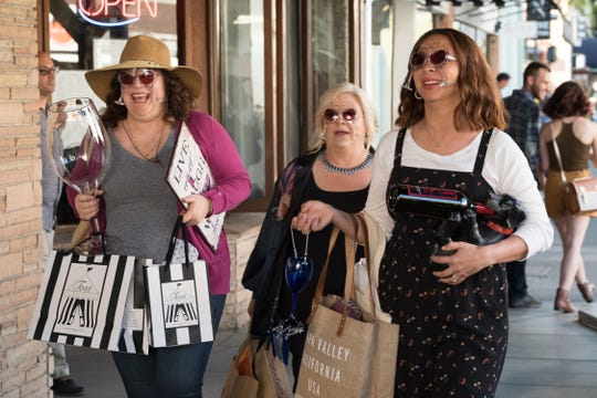 (From left): Emily Spivey, Paula Pell and Maya Rudolph in Netflix's 'Wine Country.'