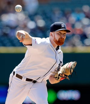 Tigers pitcher Spencer Turnbull has a 2.31 ERA and 38 strikeouts through seven starts this season.