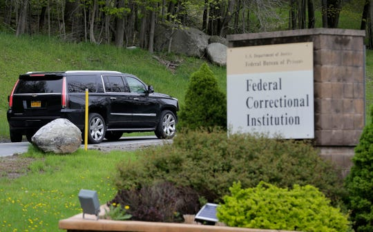 A car carrying Michael Cohen, President Donald Trump's former personal attorney, arrives at the Federal Correctional Institution in Otisville, N.Y., Monday, May 6, 2019.