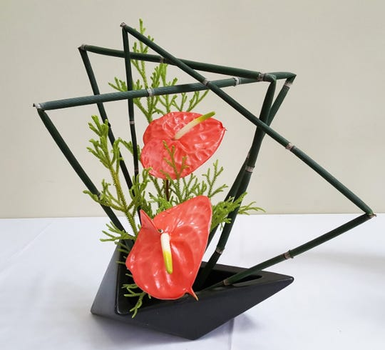 "Ikebana is the Japanese art of flower arrangement. A ""Glimpse of Japan"" fundraiser on May 16 will exhibit the work of a local Ikebana chapter."