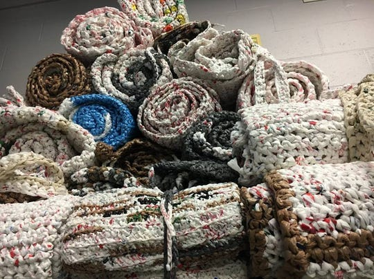 We Are Plarners is a local group that turns plastic bags into a material called plarn that can then be crocheted into different items, including sleeping mats for the homeless.