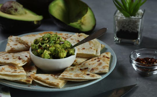 Quesadillas, like these featuring Monterey Jack cheese on flour tortillas with avocado, were a favorite meal for JeanMarie Brownson's kids. (Abel Uribe/Chicago Tribune/TNS)