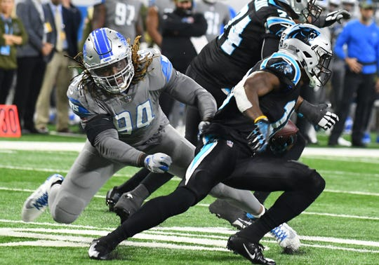 Former Lions defensive end Ziggy Ansah (94) remains in search of a new team.