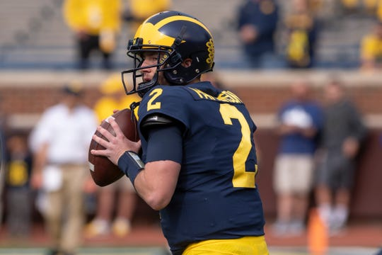 Shea Patterson  completed nearly 65 percent of his passes last season.