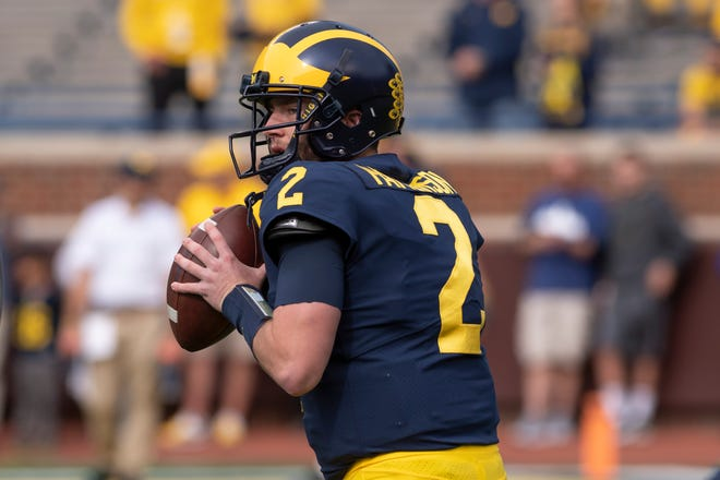 Shea Patterson and Michigan have been picked by writers in a Cleveland.com poll to win the Big Ten.