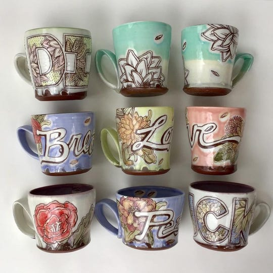 Janelle Song, a Beverly Hills ceramic artist, makes mugs, platters, flowers and more.