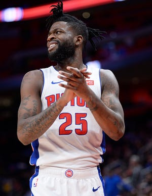 Reggie Bullock was averaging 12.3 points per game for the Pistons last season before a trade to the Los Angeles Lakers.