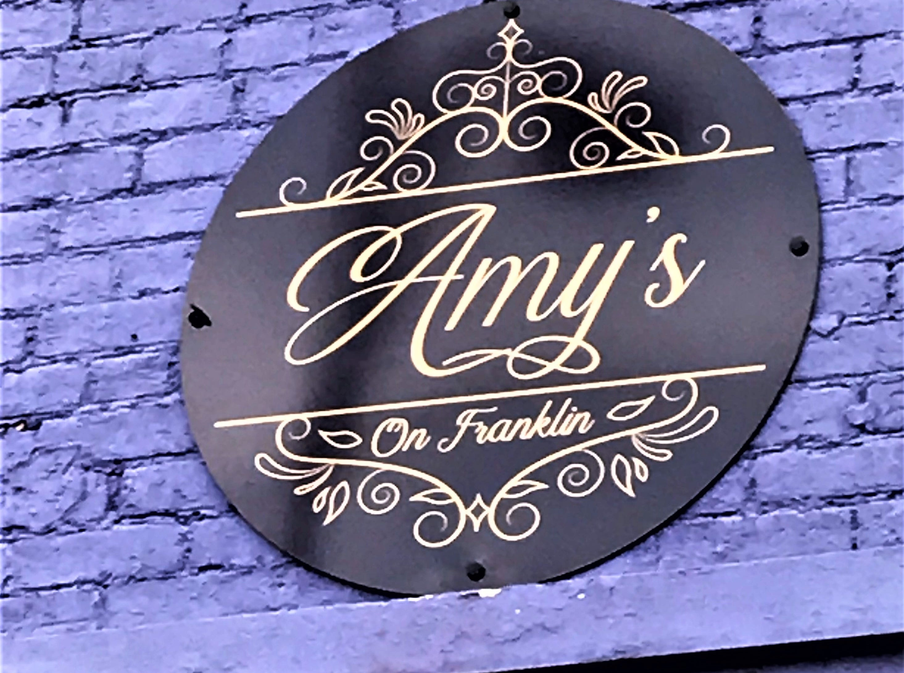 Amy's on Franklin is located at 1418 W. Franklin St., just across from the Lamasco Bar and Grill. It's hard to miss.