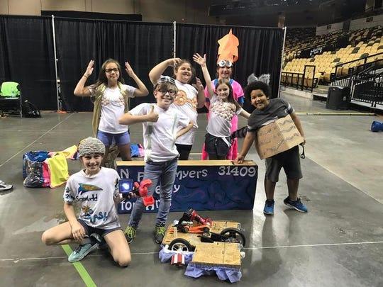 The team from North Fort Myers Academy of the Arts includes Macey Hodges, Elizabeth Clemence, Jude Goss, Ella Balzano, Chloe Griggs, Jadyn Garrett, and Isaiah Diaz.