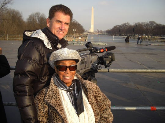 """Local filmographer John Biffar with his longtime friend Norma Miller, the legendary Lindy Hop dancer he celebrated in his 2005 documentary """"Queen of Swing."""""""