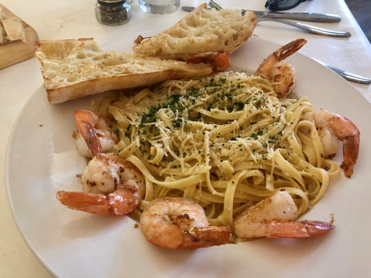 Champagne shrimp pasta ($24) from Duval's in Cape Coral.