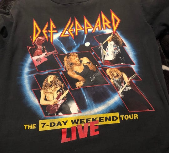 Mary Fabry was at Def Leppard's 7-Day Weekend Tour in 1992 at Brown County Veterans Memorial Arena and has the T-shirt to prove it.