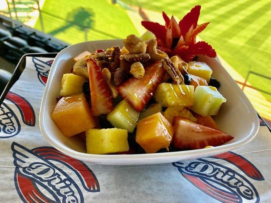One of Chef Wilberto Sauceda's recent, more casual, creations for an event at Fluor Field.