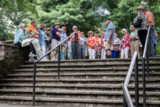 Members of the Clemson University fraternity Kappa Delta Chi, toured Clemson's South Carolina Botanical Garden Monday, May, 6, 2019, during their biennial reunion.