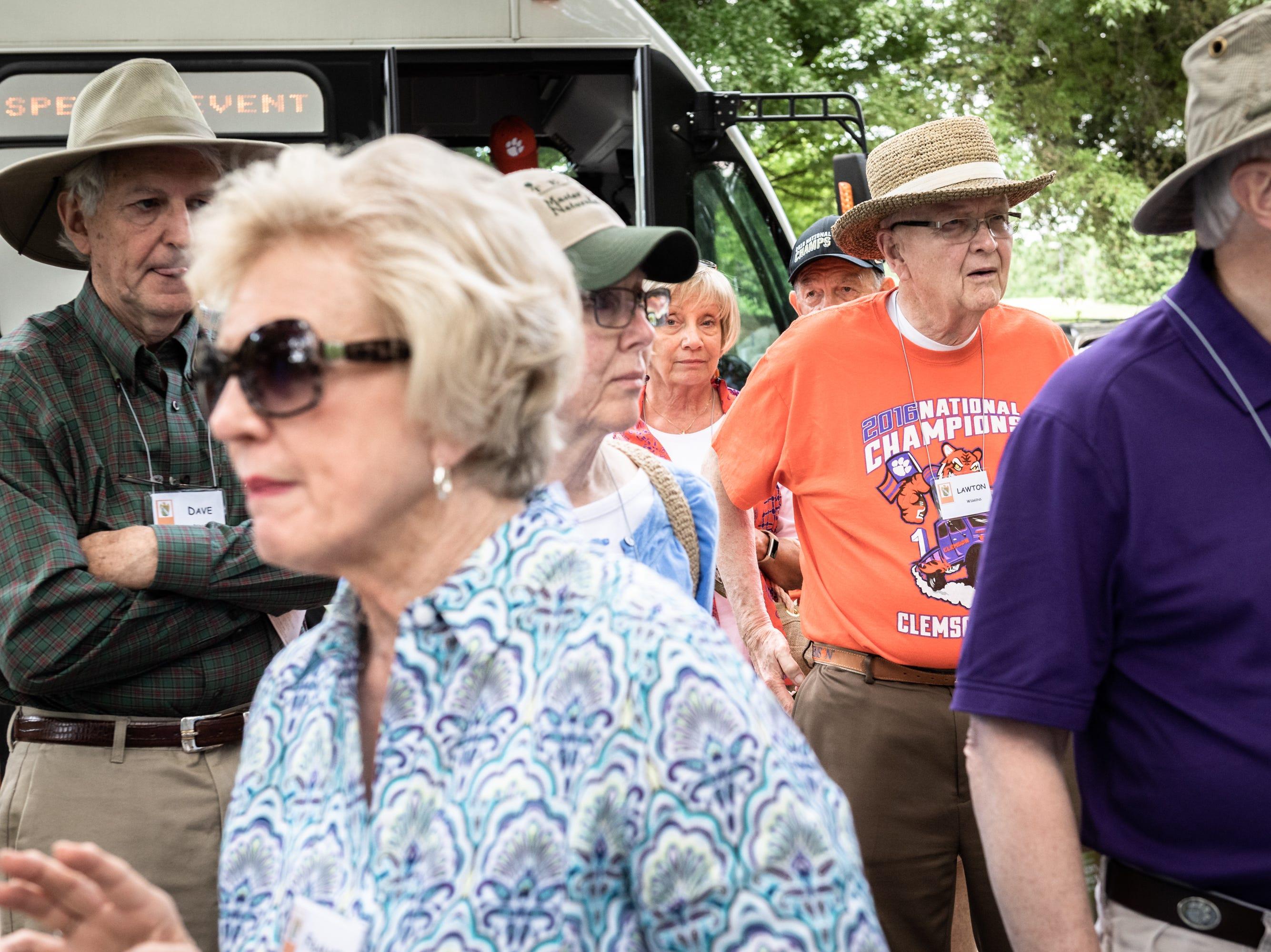 Members of the Clemson University fraternity Kappa Delta Chi, toured Clemson's South Carolina Botanical Garden Monday, May, 6, 2019, during their biennial reunion.
