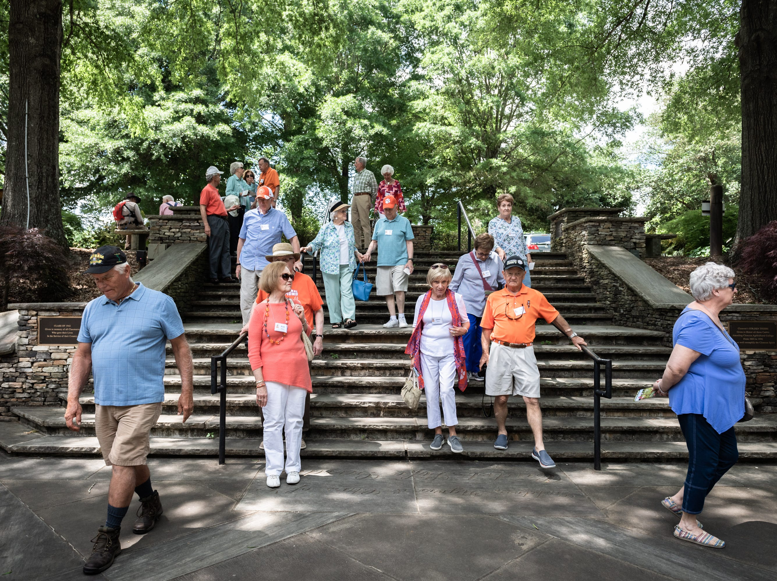 Members of the Clemson University fraternity Delta Kappa Chi, toured Clemson's South Carolina Botanical Garden Monday, May, 6, 2019, during their biennial reunion.