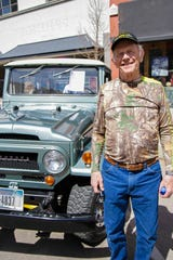 David Torkelson with his 1969 Toyota FJ 40 Land Cruiser