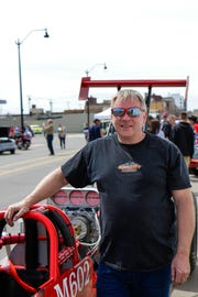 Les and Trevor Hall's 2016 Chassis Works rear-engine dragster