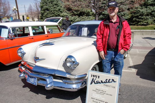 Bruce Bull with his 1952 Kaiser Manhattan
