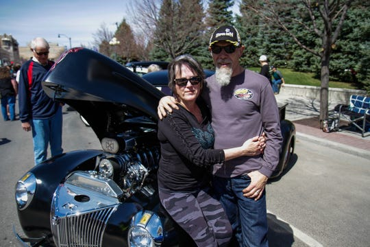 Dwain and Jessie Smith with their 1940 Ford Pickup