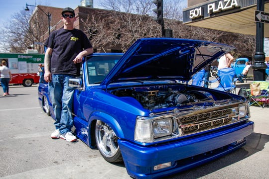 Buddy Lervold with his 1989 Mazda Mini Truck