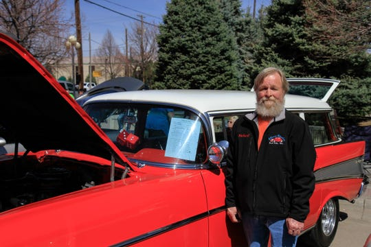 Richard Cochran with his 1957 Chevy Bel Air Station Wagon