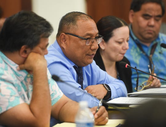 John Lizama, Judiciary of Guam administrator of the courts, speaks during a roundtable discussion at the Guam Congress Building in Hagåtña on May 6, 2019.