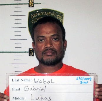Gabriel Wabol accused of trying to poke officer with needle after arrest for cutting wires