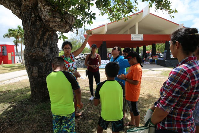Marine Corps Activity Guam Environmental team partnered with its local government of Guam partners on for the Guam Nature Alliance Earth Month Kick-off at Gov. Joseph Flores Beach Park, at Ypao Beach in Tumon.