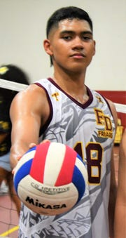 Aidan McDonald, outside hitter for Father Duenas, is high school volleyball's most dominant hitter.