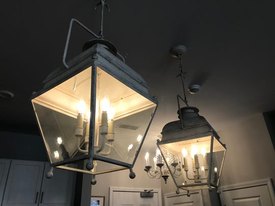 Lanterns like these will illuminate a space arranged to feel like a winding Paris street at Cake Bake Shop opening in 2019 at Carmel City Center.
