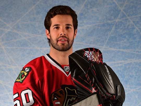 Corey Crawford will drive the pace car for Saturday's IndyCar Grand Prix at Indianapolis Motor Speedway.