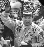 A.J. Foyt captures the last of his four 500 titles in 1977.