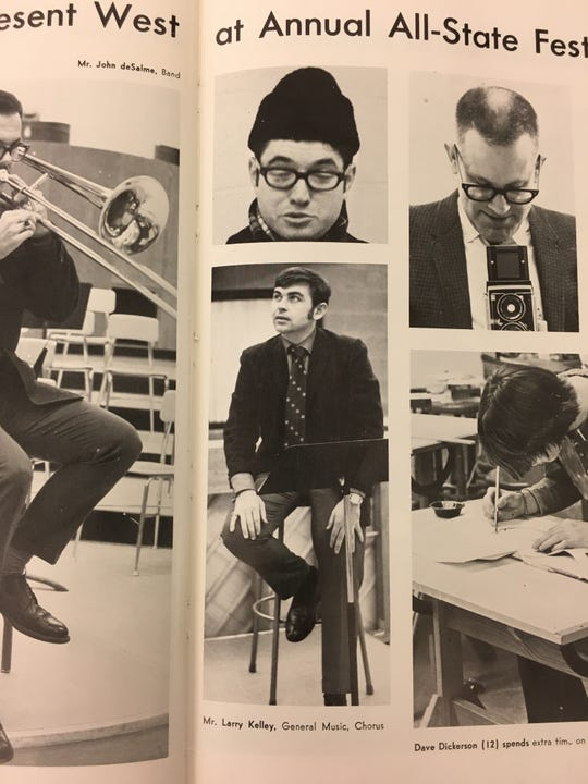 Larry Kelly as he appeared in the 1970 West High School yearbook.